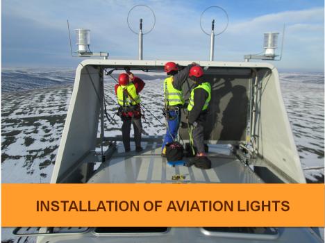 aviation lights installation