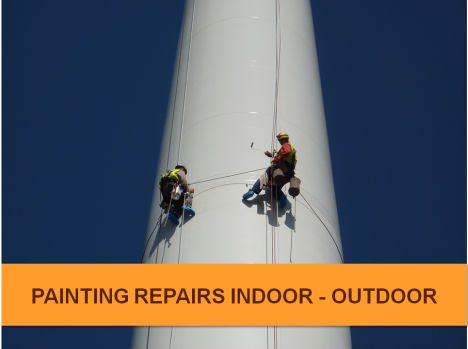 painting wind turbines